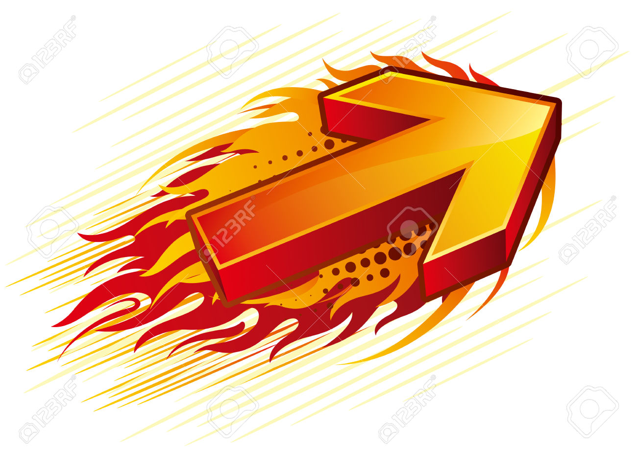 Flaming arrow clipart free vector Red Flame Arrow Royalty Free Cliparts, Vectors, And Stock ... vector