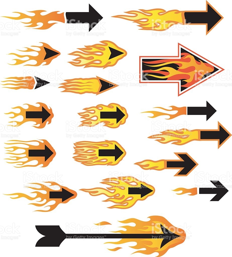 Flaming arrow clipart free picture black and white stock Flaming arrow clipart free - ClipartFest picture black and white stock