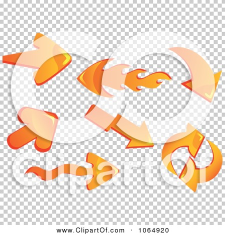 Flaming arrow clipart free jpg library library Clipart 3d Orange And Flame Arrows - Royalty Free Vector ... jpg library library