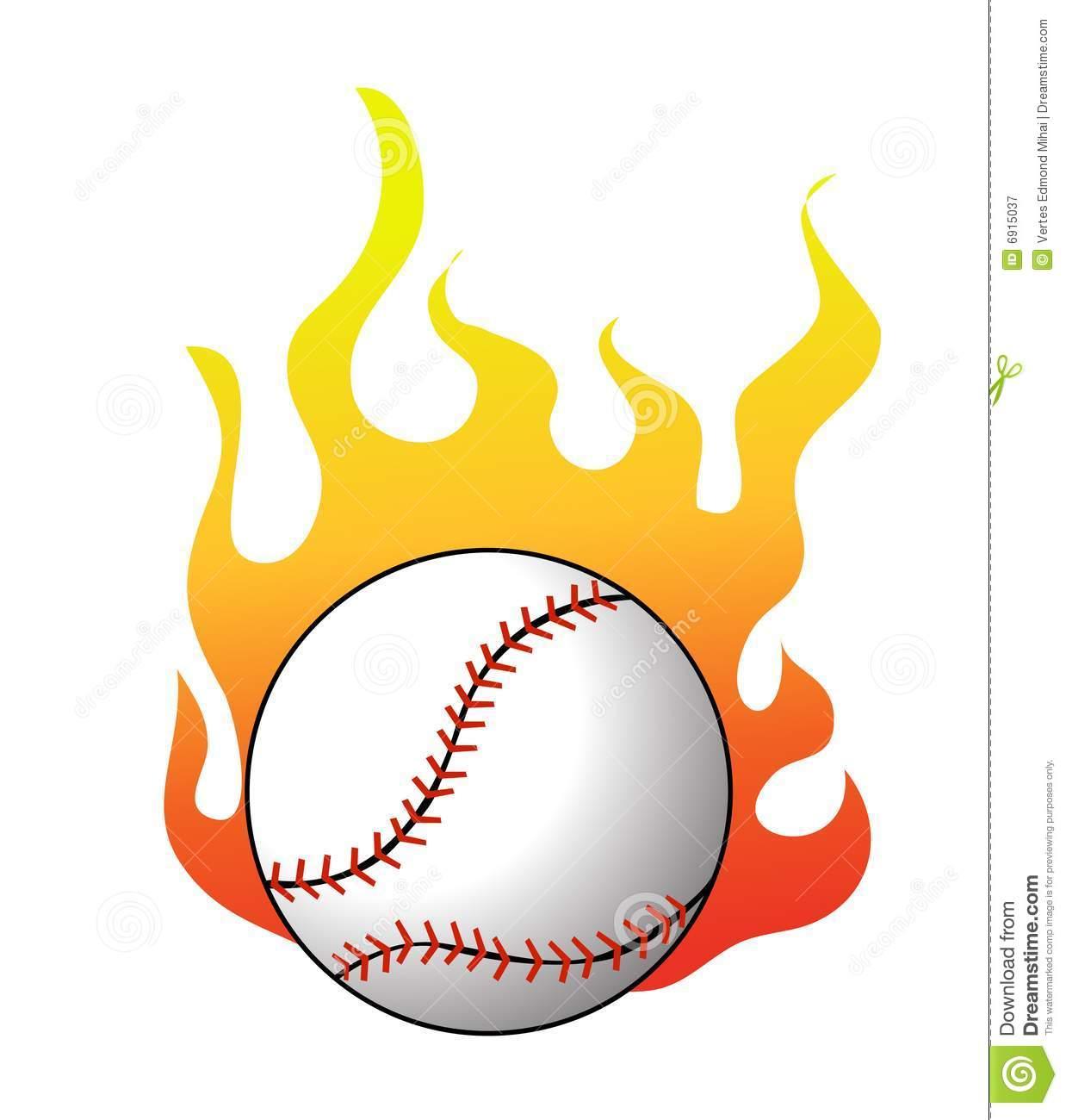 Flaming baseball clipart clip Baseball Flames Stock Illustrations – 90 Baseball Flames Stock ... clip