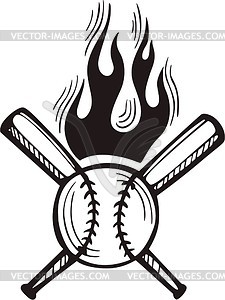 Flaming baseball clipart svg library Flaming baseball clipart black and white - ClipartFest svg library