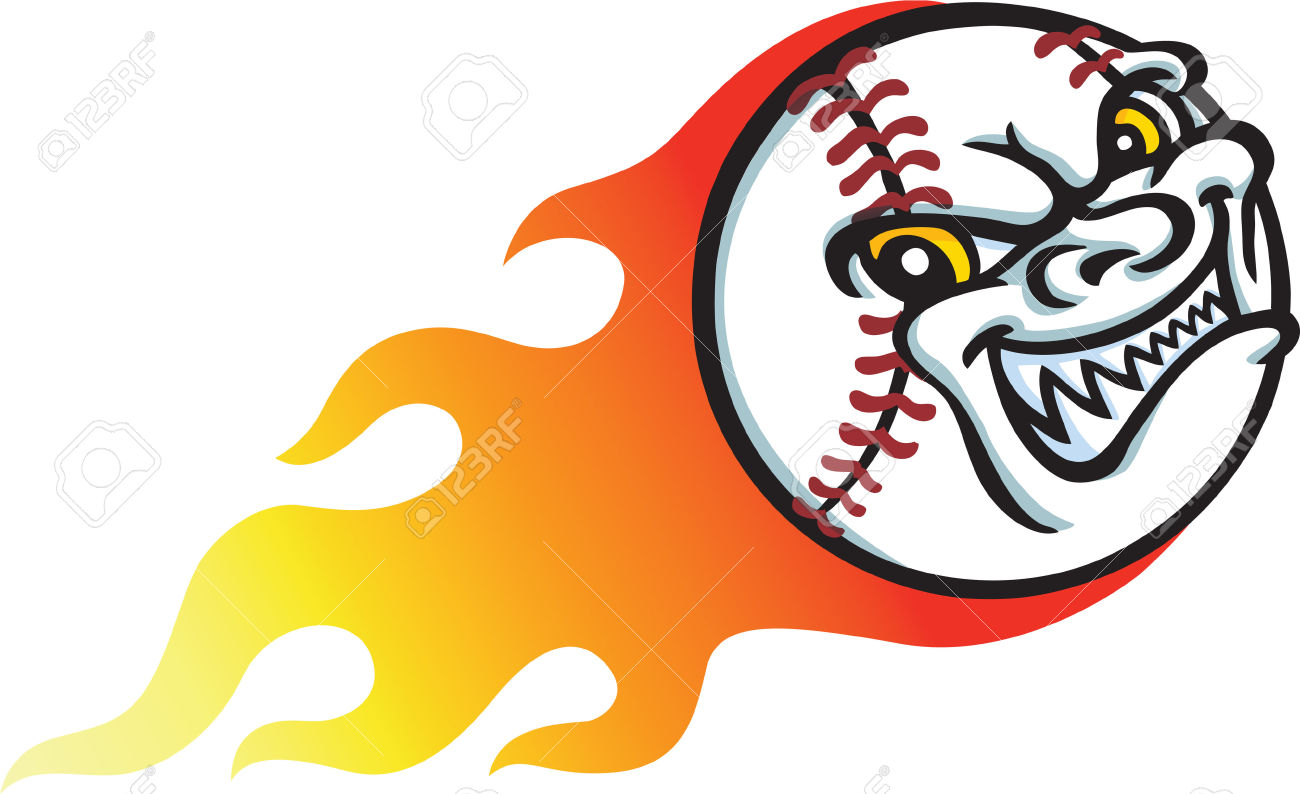 Flaming baseball clipart png library stock Flaming Baseball Clip Art – Clipart Free Download png library stock