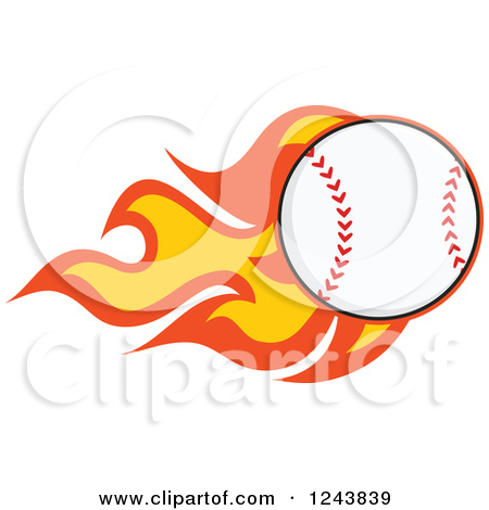 Flaming baseball clipart clip download Clipart of a Cartoon Baseball with a Trail of Flames - Royalty ... clip download