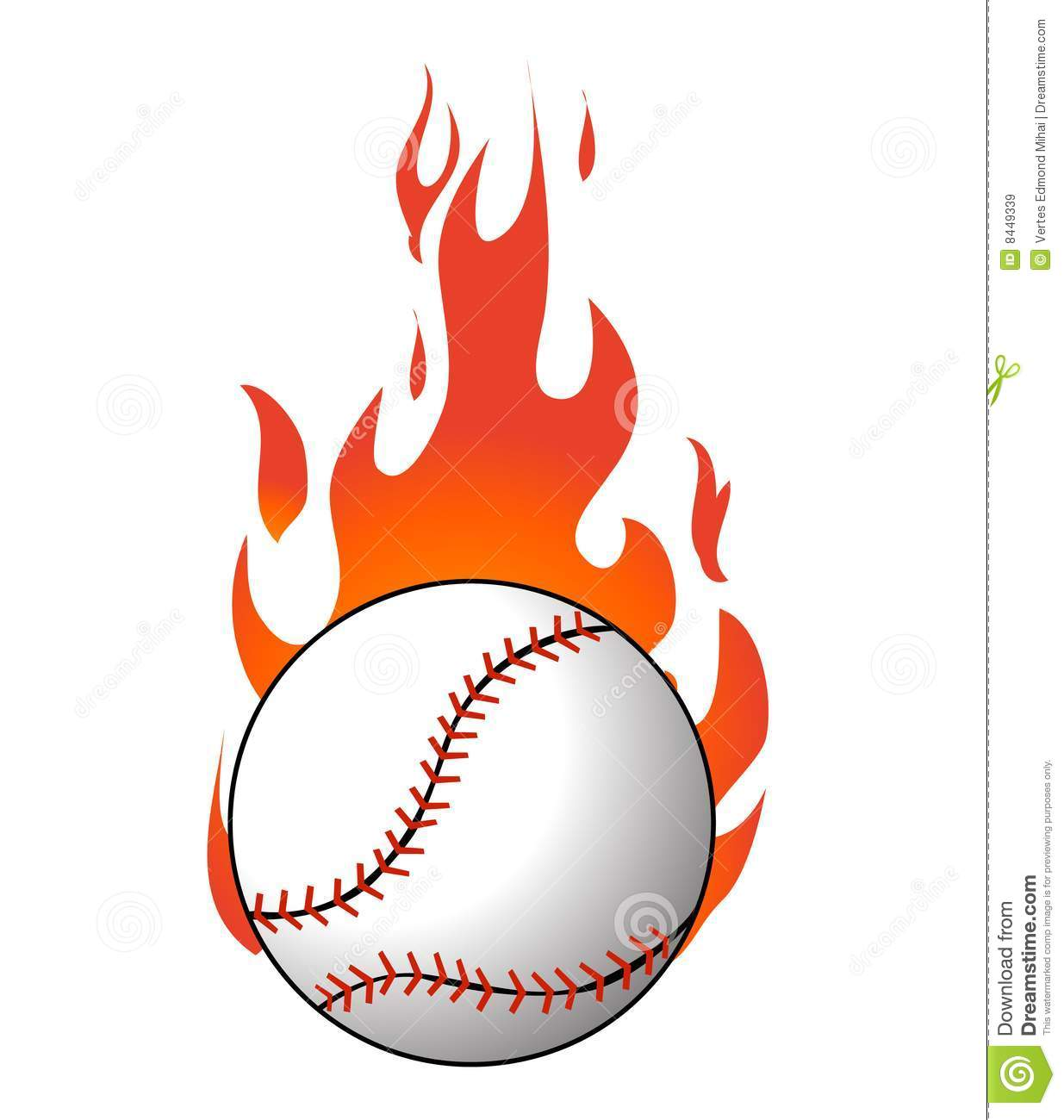Flaming baseball clipart clip freeuse Baseball Flames Stock Photos, Images, & Pictures - 107 Images clip freeuse