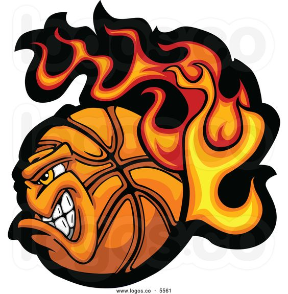 Flaming basketball clipart png freeuse library Free Printable Basketball Clip Art | Royalty Free Vector of a Logo ... png freeuse library