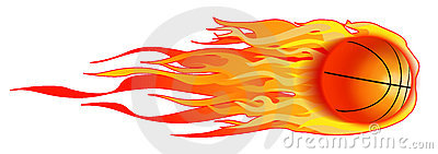 Flaming basketball clipart image free Flaming Basketball...Vector / Clip Art Royalty Free Stock Photos ... image free