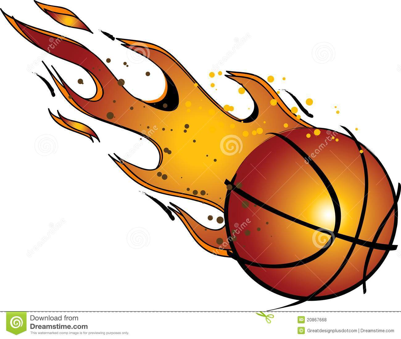 Flaming basketball clipart png Flaming Basketball Clipart - Clipart Kid png