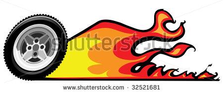 Flaming car clipart vector library stock Flaming Tire Clipart - Clipart Kid vector library stock