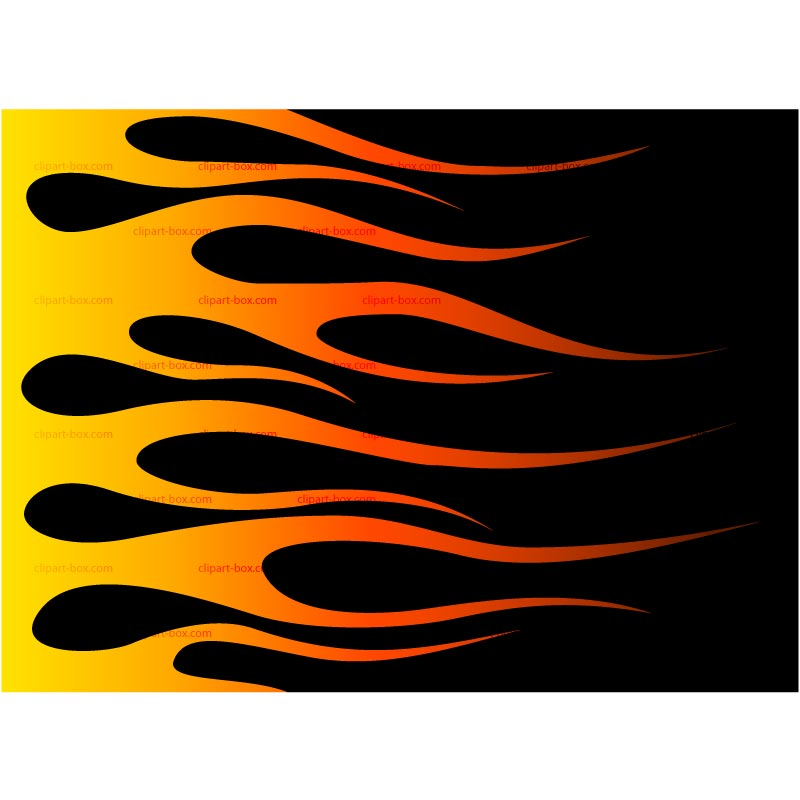 Flaming car clipart png black and white Flames Free Clipart - Clipart Kid png black and white