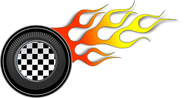 Flaming car clipart banner library Flaming Tire Clipart - Clipart Kid banner library