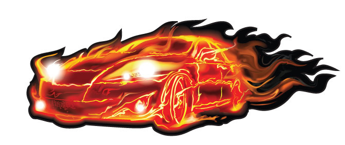 Flaming car clipart graphic royalty free stock Flaming car clipart - ClipartFest graphic royalty free stock