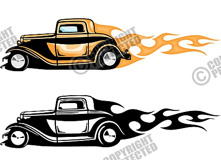 Flaming car clipart clipart library download Free Premium Cliparts - ClipartFest clipart library download
