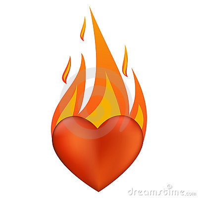 Flaming clipart image freeuse stock Flaming Heart Clipart - Clipart Kid image freeuse stock