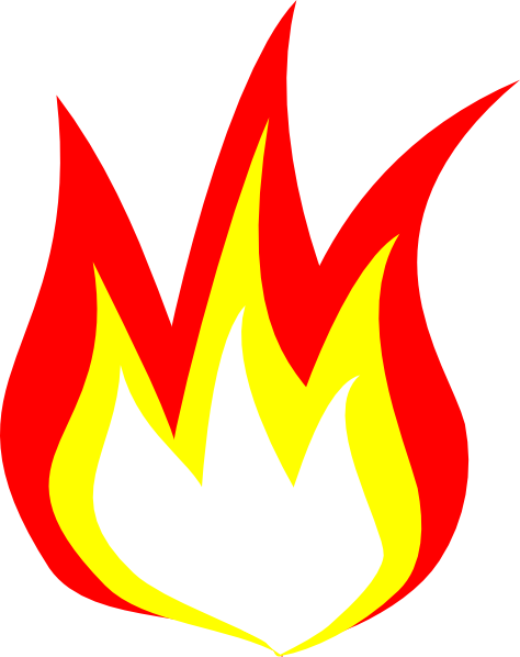 Flaming clipart banner transparent library Flame Clip Art Free | Clipart Panda - Free Clipart Images banner transparent library