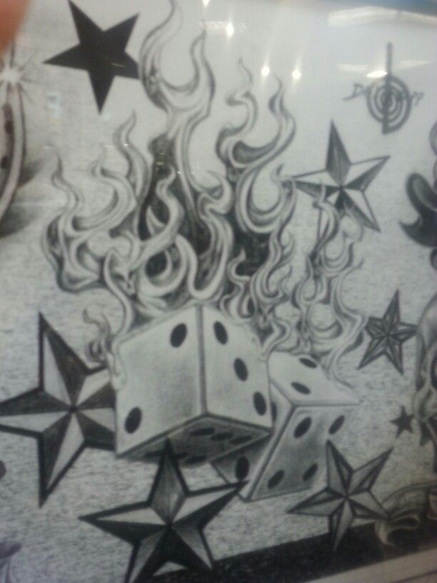 Flaming dice clipart 3 image freeuse stock 17 Best images about Flame tats on Pinterest | The flame, Twisted ... image freeuse stock