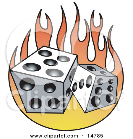 Flaming dice clipart 3 png freeuse library Pair Of Dice Over Purple And Blue Flames Clipart Illustration by ... png freeuse library