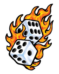 Flaming dice clipart 3 clip black and white library Rolling Dice Flames | Clipart Panda - Free Clipart Images clip black and white library