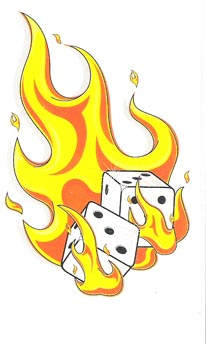 Flaming dice clipart 3 clip stock Flaming Dice | flaming dice | Dice | Pinterest | Dice clip stock