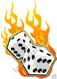 Flaming dice clipart 3 picture free stock Flaming dice clipart 3 - ClipartFest picture free stock