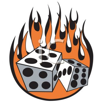Flaming dice clipart 3 jpg stock Flaming dice clipart 3 - ClipartFest jpg stock