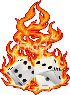 Flaming dice clipart 3 picture black and white Rolling Dice | Rolling-Dice | Dice | Pinterest | The o'jays, How ... picture black and white