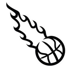 Flaming dunker photo clipart image library library Basketball on fire tournament logo | Basketball | Pinterest ... image library library