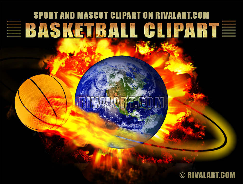 Flaming dunker photo clipart clip black and white stock Basketball Clipart on Rivalart.com clip black and white stock