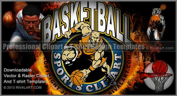 Flaming dunker photo clipart jpg royalty free stock Basketball Clipart on Rivalart.com jpg royalty free stock