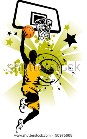 Flaming dunker photo clipart picture free library basketball Player Slam Dunk