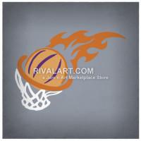 Flaming dunker photo clipart jpg transparent stock Basketball Clipart on Rivalart.com jpg transparent stock