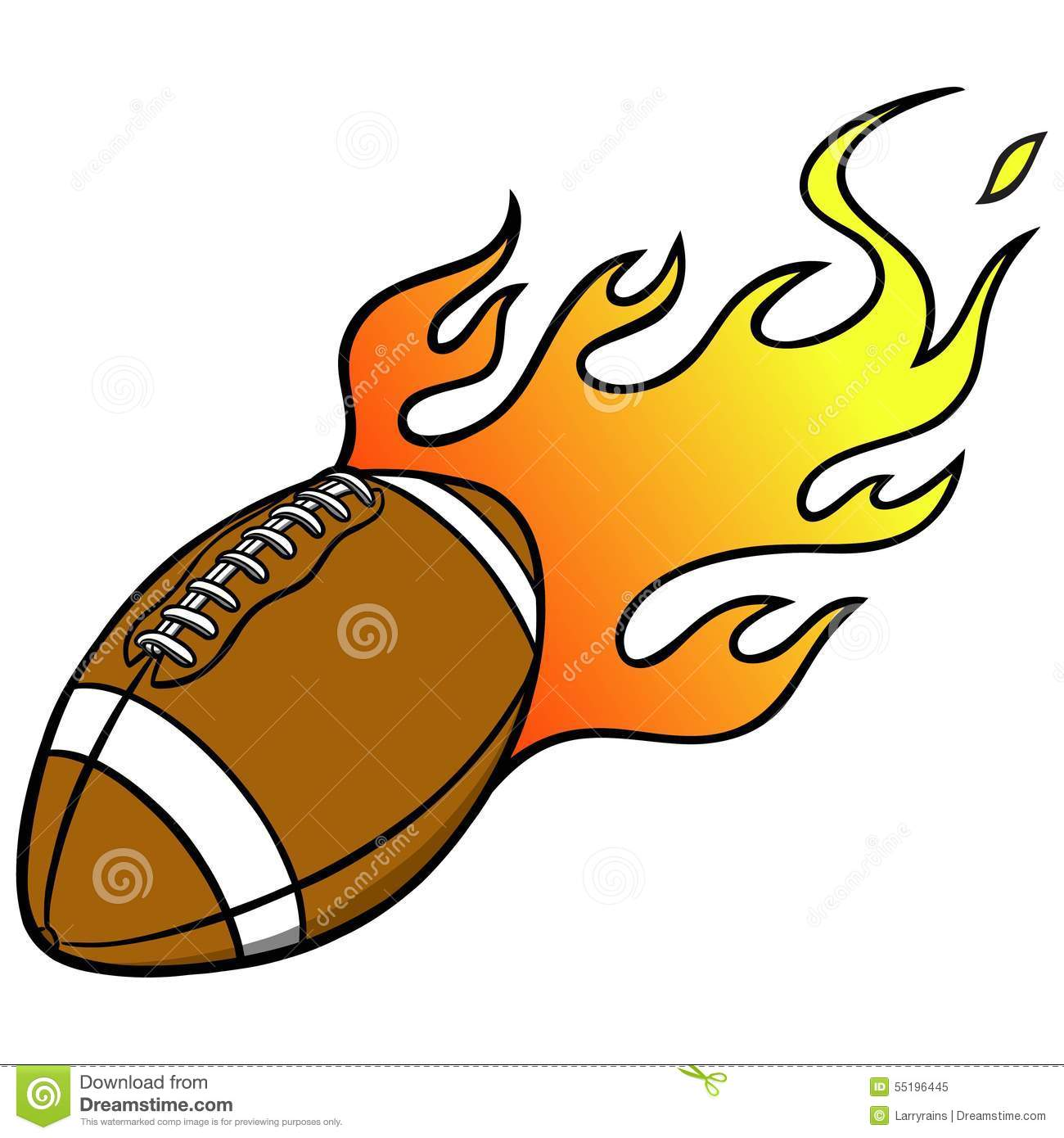 Flaming football clipart png free American Football Flames Stock Illustrations – 62 American ... png free