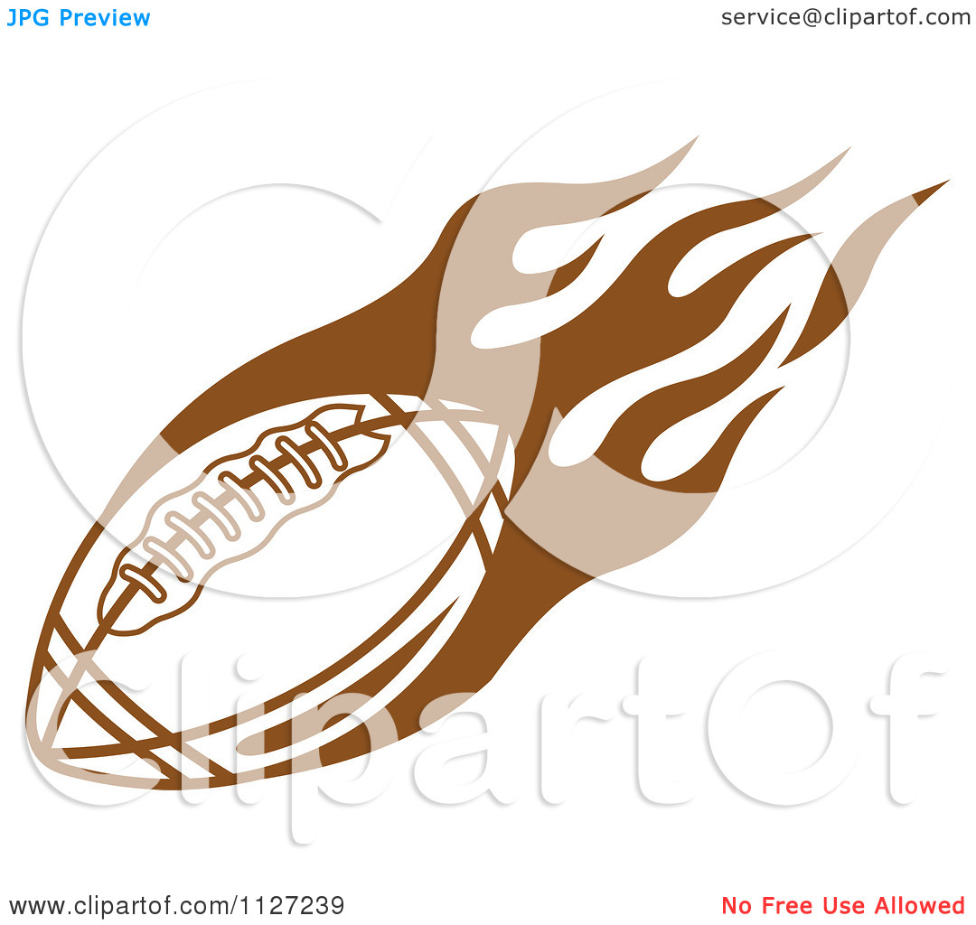 Flaming football clipart png black and white library Clipart Of A Brown American Football With Tribal Flames 4 ... png black and white library