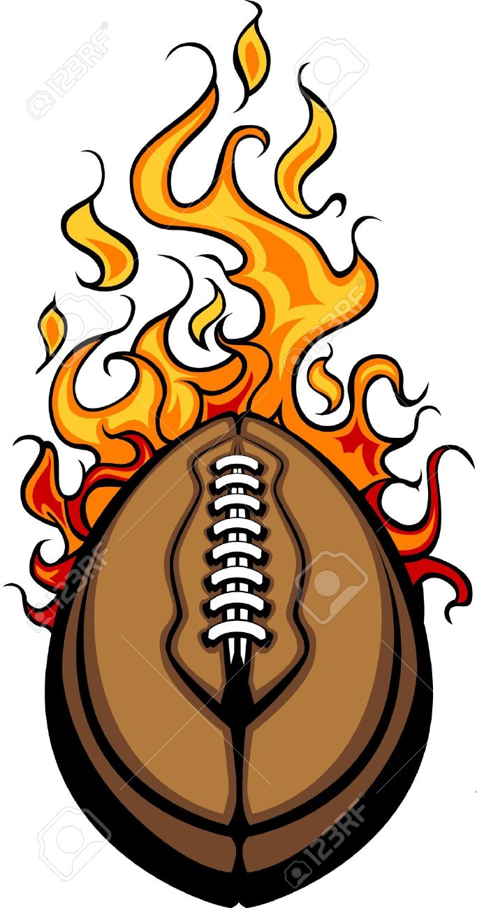 Flaming football clipart svg freeuse library Football on fire clipart - ClipartFest svg freeuse library
