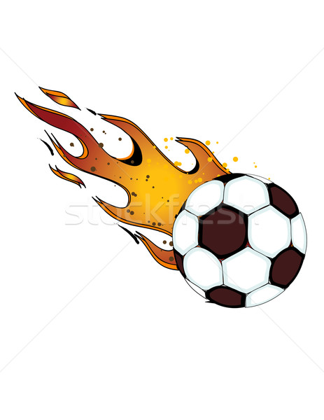 Flaming football clipart picture freeuse stock Flaming Soccerball! (Football) Vector / eps8 / clip art vector ... picture freeuse stock