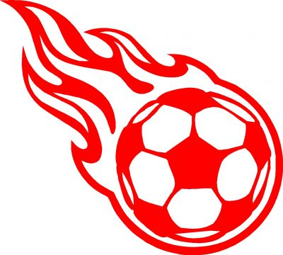 Flaming football clipart vector library download Flaming Soccer Ball Clipart - Clipart Kid vector library download