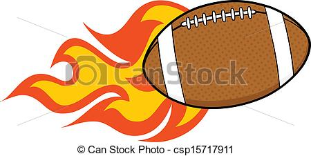 Flaming football clipart vector library Flaming football clipart - ClipartFest vector library