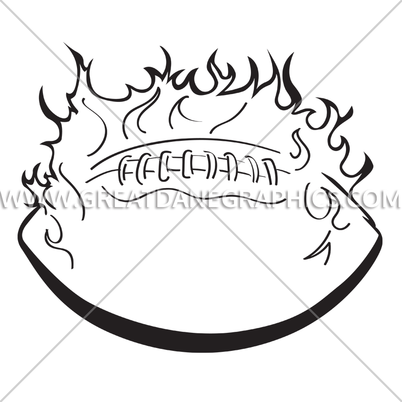 Flaming football clipart black and white banner royalty free stock Flaming Football | Production Ready Artwork for T-Shirt Printing banner royalty free stock