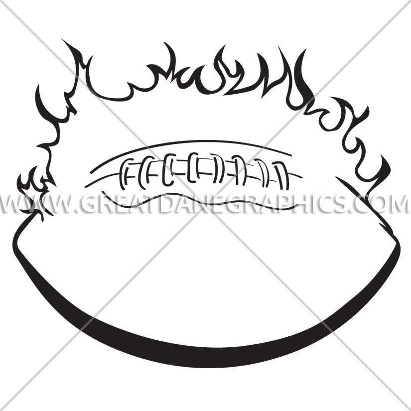 Flaming football clipart black and white vector free stock Flaming Football | Production Ready Artwork for T-Shirt Printing vector free stock