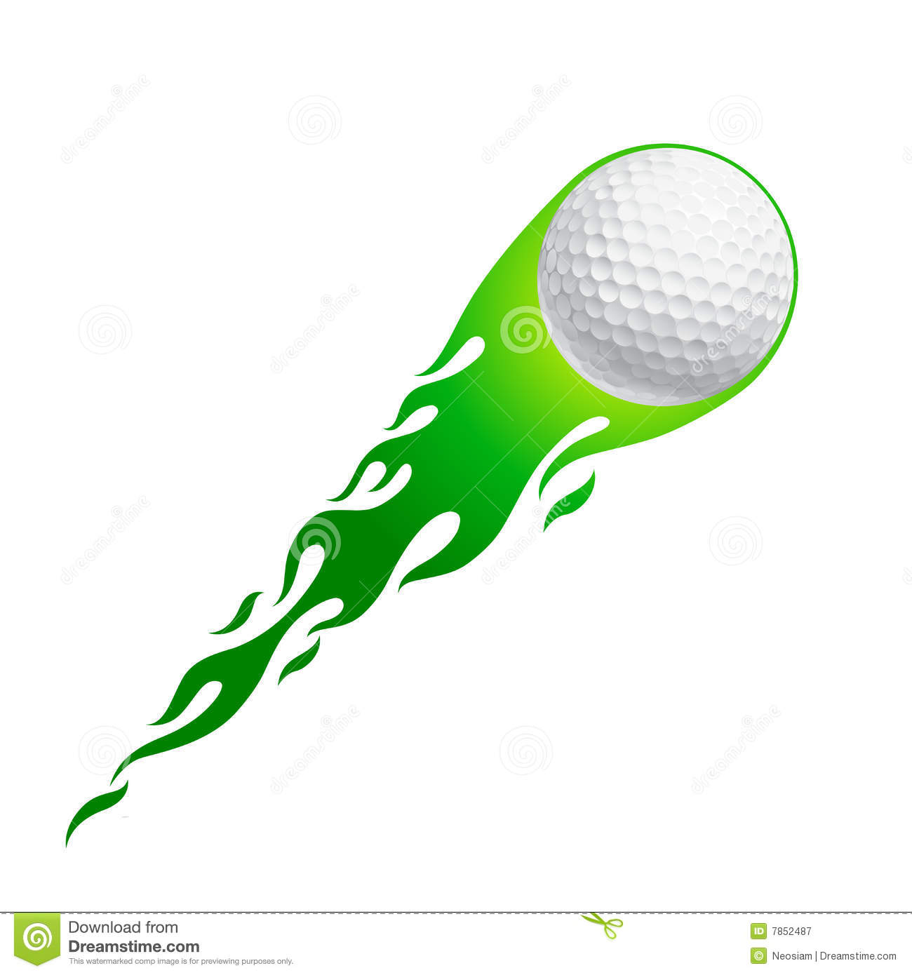 Flaming golf ball clipart picture library stock Flying golf ball clipart - ClipartFest picture library stock