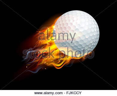 Flaming golf ball clipart graphic library An Illustration Of A Burning Flaming Golf Ball On Fire Tearing A ... graphic library