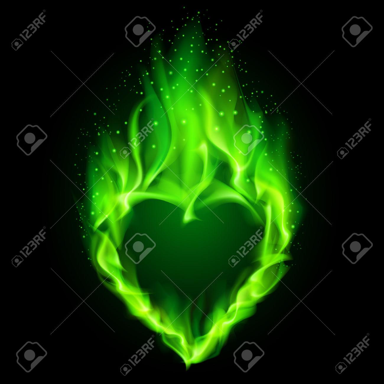 Flaming green hearts clipart jpg royalty free download Flaming green hearts clipart - ClipartFest jpg royalty free download