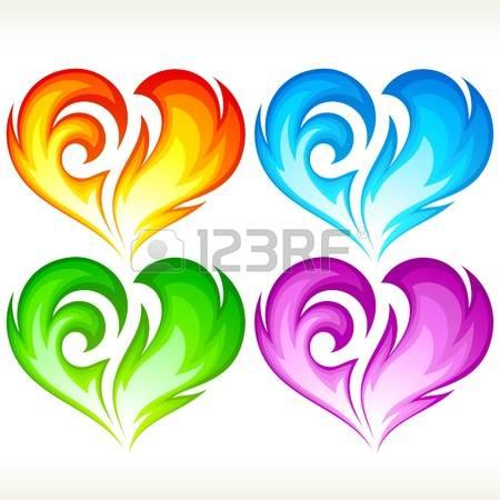 Flaming green hearts clipart svg royalty free download Flaming green hearts clipart - ClipartFest svg royalty free download