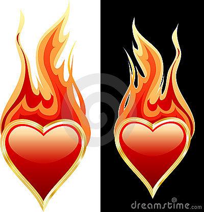 Flaming heart clipart clip art transparent stock Flaming Heart Stock Photo - Image: 7614750 clip art transparent stock