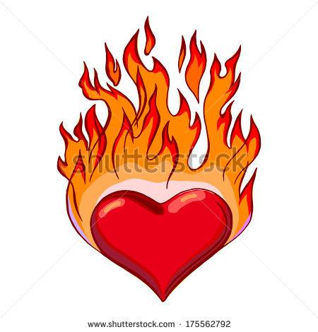 Flaming heart clipart clip art free Flaming Heart Illustration Stock Illustration 22856782 - Shutterstock clip art free