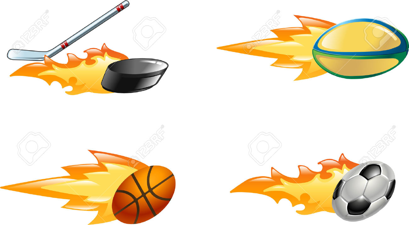 Flaming hockey puck clipart svg free library A Glossy Shiny Flaming Sport Icon Set. Rugby Ball, Ice Hockey ... svg free library