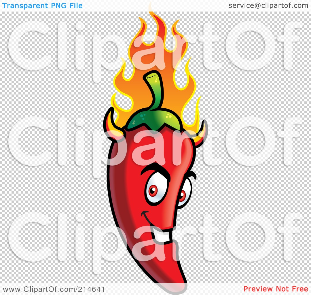 Flaming jalapeno clipart vector royalty free download Royalty-Free (RF) Clipart Illustration of a Flaming Evil Chili ... vector royalty free download