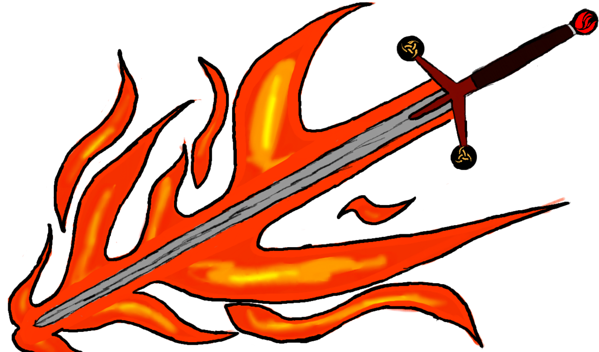 Flaming money clipart png black and white library Kyle's Flaming Sword by xhamofawex on DeviantArt png black and white library