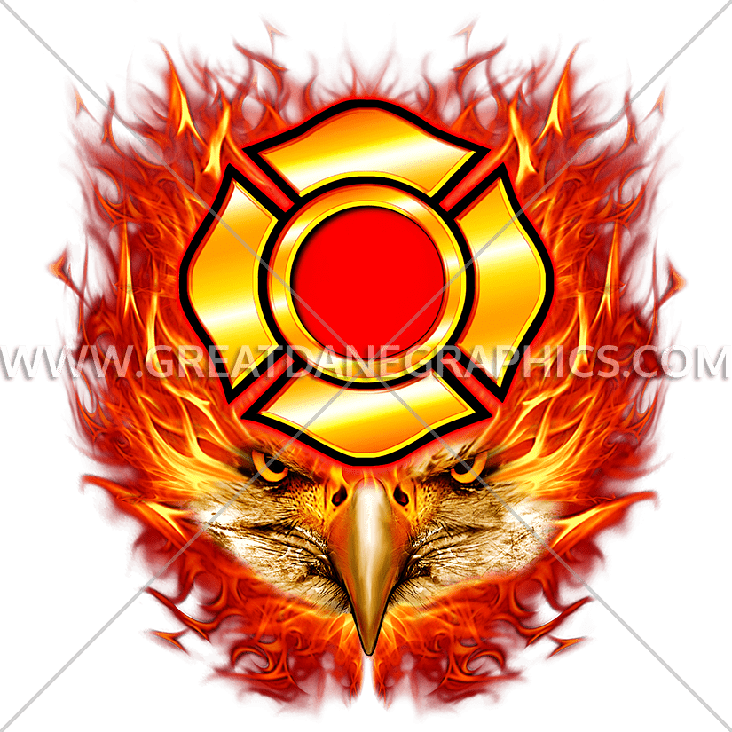 Flaming money clipart svg library library Flaming Eagle Head | Production Ready Artwork for T-Shirt Printing svg library library