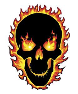 Flaming skull clip art freeuse stock Flaming skull clip art - ClipartFest freeuse stock