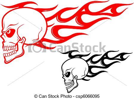 Flaming skull clip art svg black and white stock Fire skull drawing clip art free clipart - ClipartFest svg black and white stock